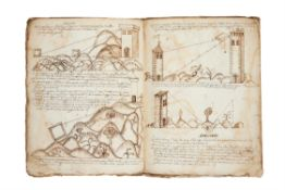 Ɵ Giovanni Scala, Deffinitioni bellisime di geometrica, in Italian, manuscript with illustrations