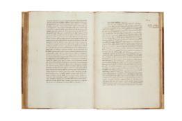 Ɵ Lactantius, Divinarum Institutionum Libri VII, in Latin, large and handsome Renaissance manuscript