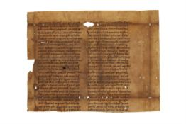 Palladius of Cappadocia, Historia Lausiaca, in Latin translation, cutting from a large leaf,