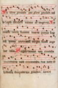 Leaf from a Processional, in Latin, manuscript on parchment