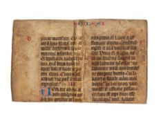 Ɵ Cutting from a monumental Old Testament codex, in Latin, manuscript on parchment,