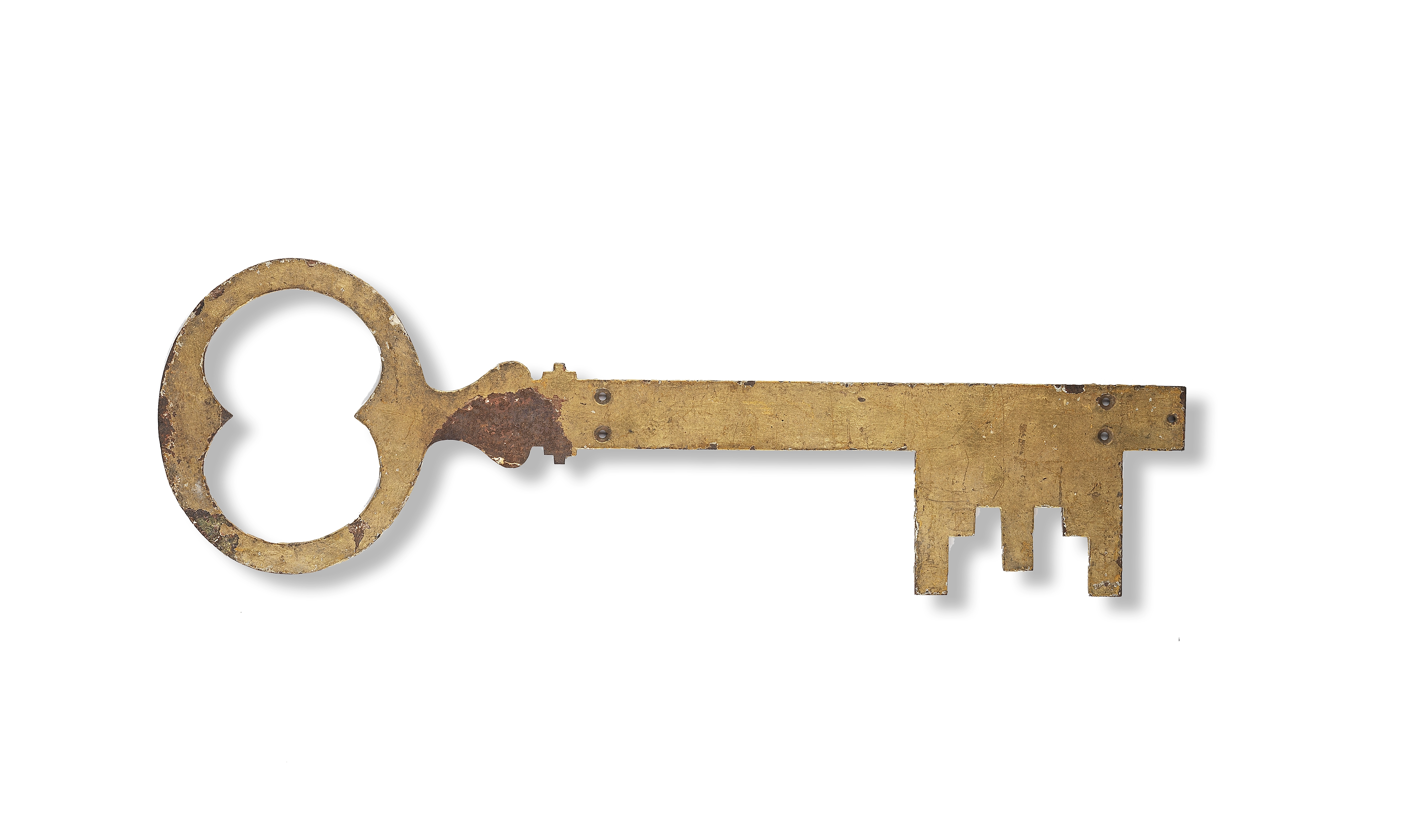Lot 221 - A wrought iron trade sign, in the form of a key