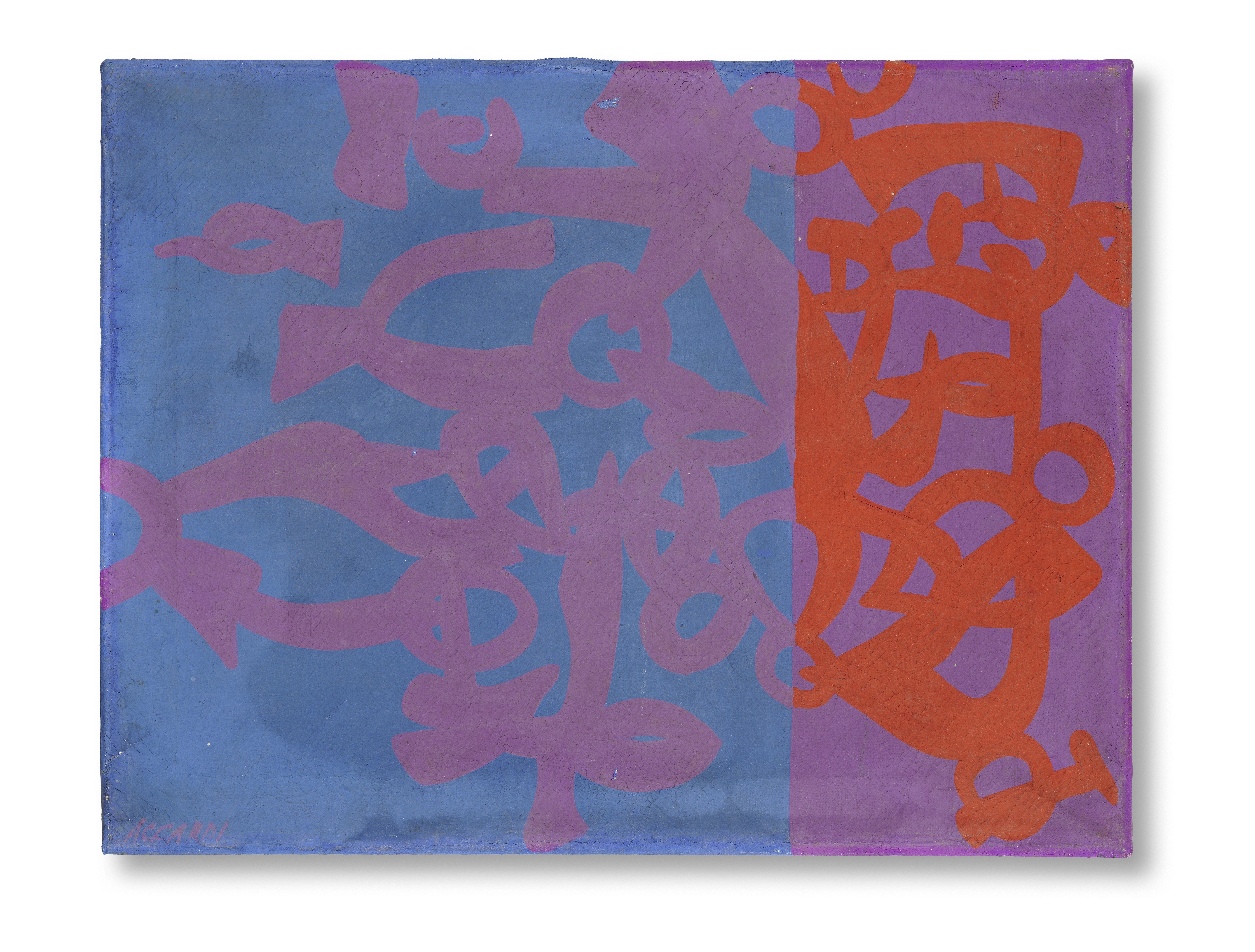 Lot 11 - Carla Accardi (1924-2014) Azzurro viola arancio, 1969 - 1970