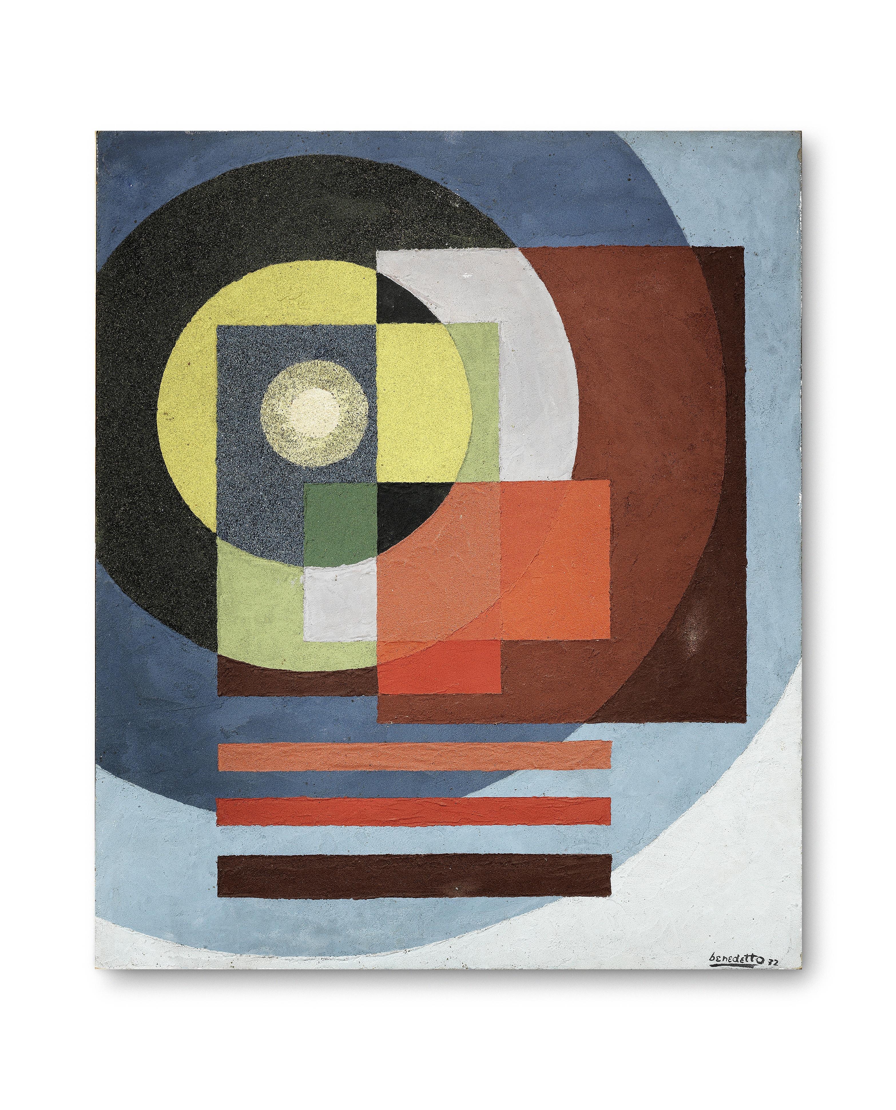 Lot 6 - Enzo Benedetto (1905-1991) Contrasti nello spazio, 1972