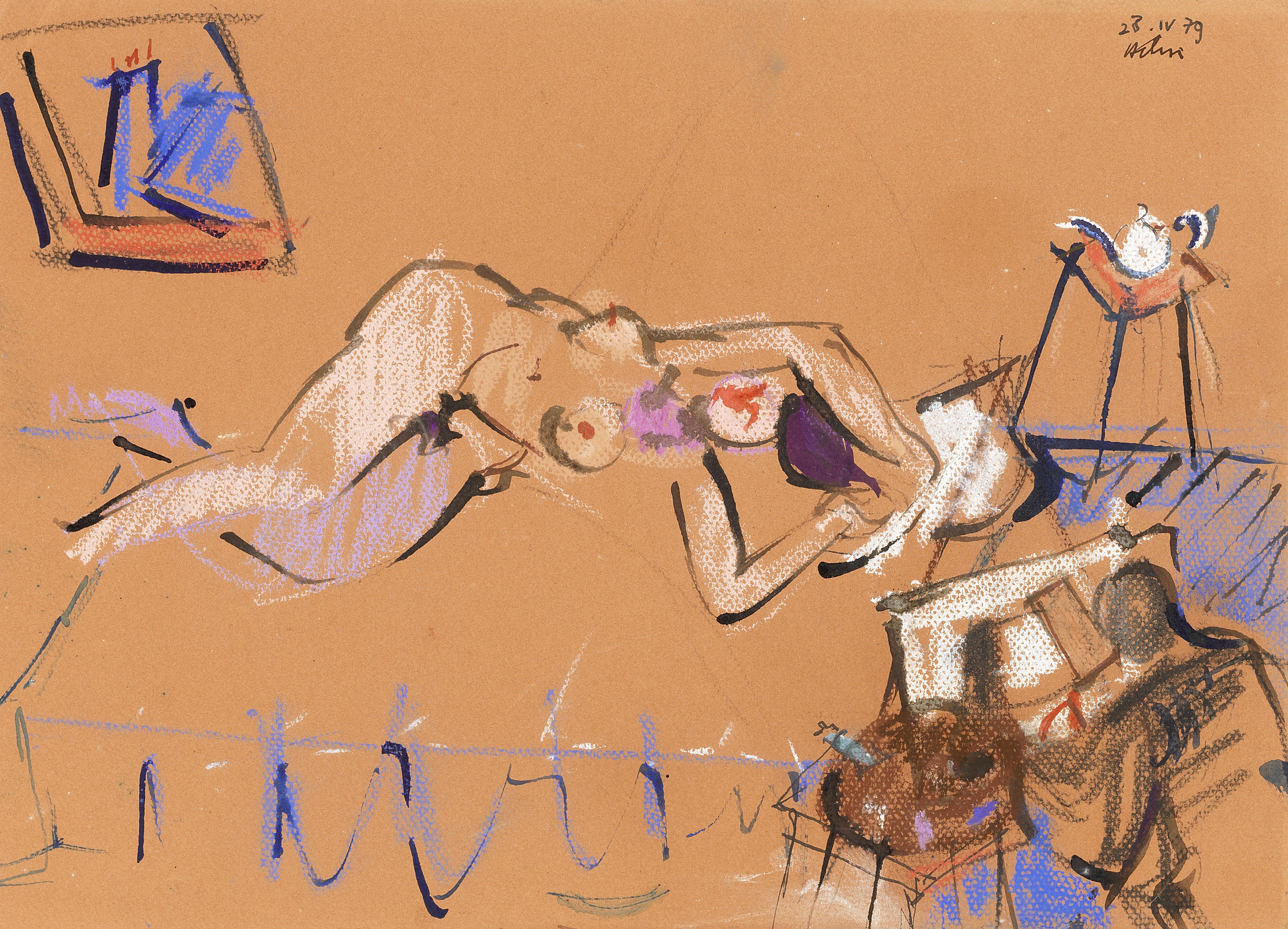 Lot 27 - Jean Hélion (1904-1987) Le songe, 1979