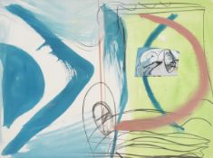 Peter Lanyon (British, 1918-1964) Through 57.5 x 76.5 cm. (22 3/4 x 30 1/4 in.) (Executed in 1964)
