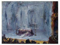 Jack B. Yeats R.H.A. (Irish, 1871-1957) Romeo and Juliet (The Last Act) 45.8 x 61.1 cm. (18 x 24 ...