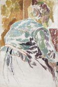 Duncan Grant (British, 1885-1978) Study of Vanessa Bell Painting 61.3 x 41 cm. (24 1/8 x 16 1/8 i...