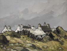 Sir Kyffin Williams R.A. (British, 1918-2006) Carreglefn 71.2 x 91.5 cm. (28 x 36 in.)