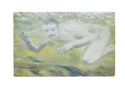 Jack B. Yeats R.H.A. (Irish, 1871-1957) My Friend Beneath the Sea 23 x 36 cm. (9 x 14 1/8 in.) (P...