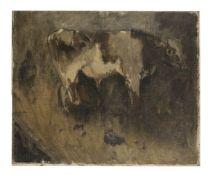 Sir William Coldstream (British, 1908-1987) Study of a Bullock 38.2 x 46.4 cm. (15 x 18 1/4 in.) ...