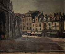 Walter Richard Sickert A.R.A. (British, 1860-1942) Rue de la Boucherie with St Jacques 45.5 x 56 ...