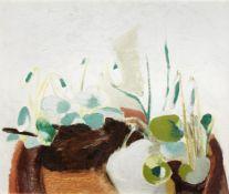 Winifred Nicholson (British, 1893-1981) White Violets 45.7 x 54.7 cm. (18 x 21 1/2 in.)