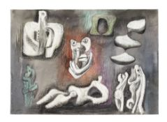 Henry Moore O.M., C.H. (British, 1898-1986) Ideas for Sculpture 25.1 x 35.4 cm. (9 7/8 x 14 in.) ...