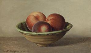 Eliot Hodgkin (British, 1905-1987) Bowl of Peaches 18.5 x 29.5 cm. (7 1/4 x 11 5/8 in.)
