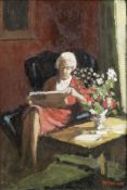 Charles McCall (British, 1907-1989) Letty at the Window; Letty Reading one 24.5 x 16.5cm (9 5/8 ...