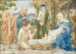 William Glasby (British, 1863-1941) Three nativity studies the largest 21 x 17.2cm (8 1/4 x 6 3/...