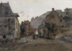 Leon Germaine Pelouse (French 1838 - 1891) French Street scene