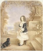 H. Kendall (British, 19th century) Portrait of a girl, thought to be a royal princess