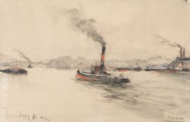 Fernand Herbo (French, 1905-1995) Bateaux a vapeur (Executed in 1932)