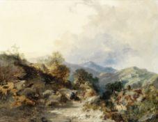 Edmund John Niemann (British, 1813-1876) Dovedale, Yorkshire each 36 x 46cm (14 3/16 x 18 1/8in).(2)