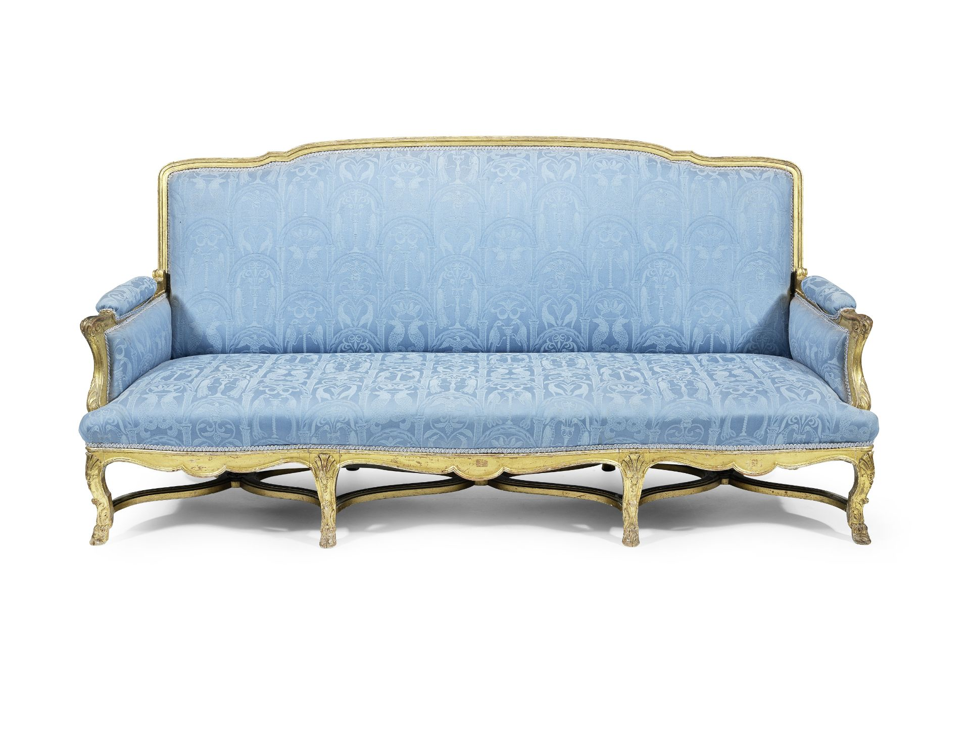 Los 230 - A French 19th century giltwood canape in the Louis XIV style