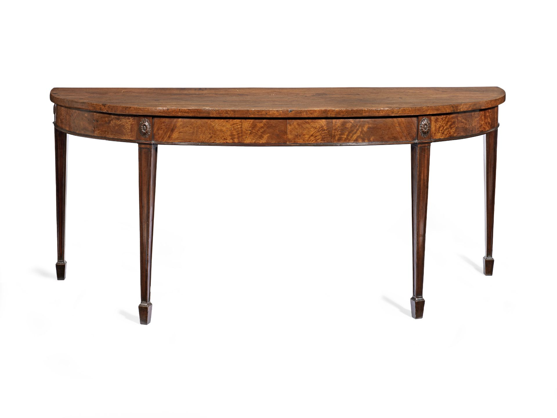 Los 101 - A George III mahogany demi-lune serving table
