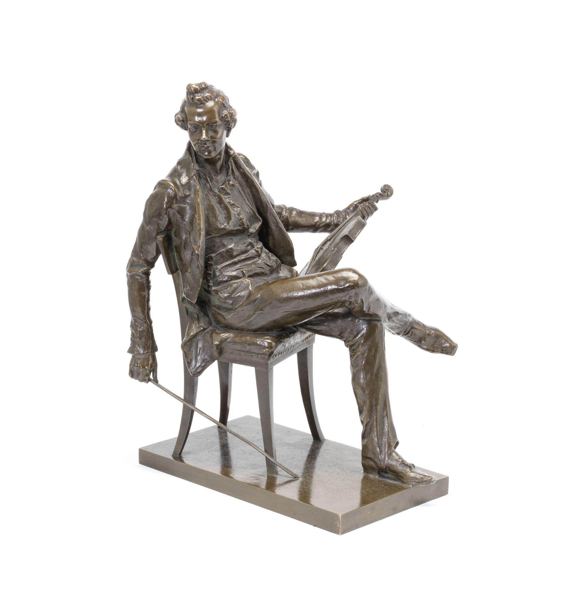 Los 168 - Franz Seifert (Austrian, 1866 -1951): a patinated bronze portrait figure of Josef Lanner