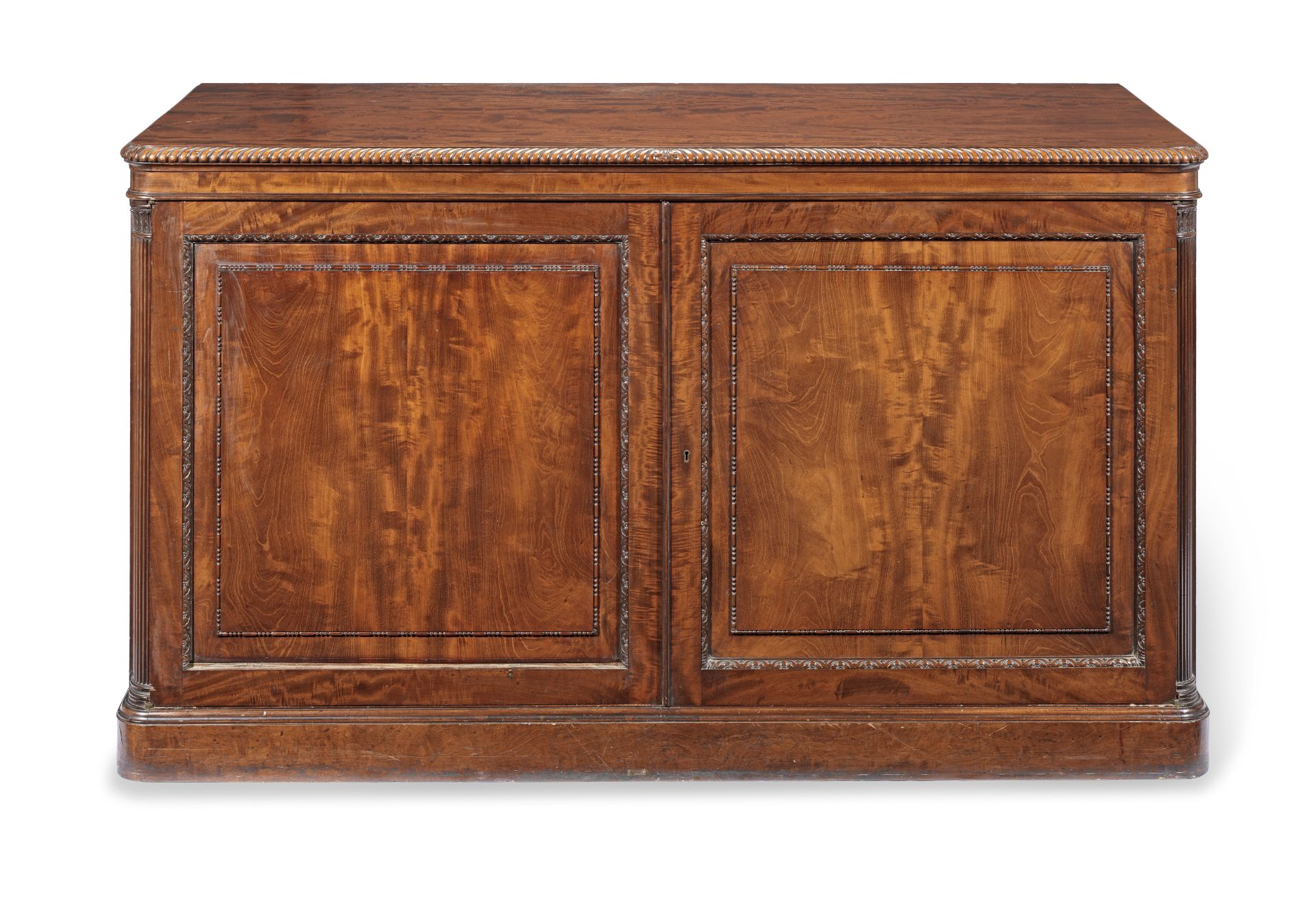 Los 51 - A George IV mahogany library folio/print cabinet attributed to Gillows