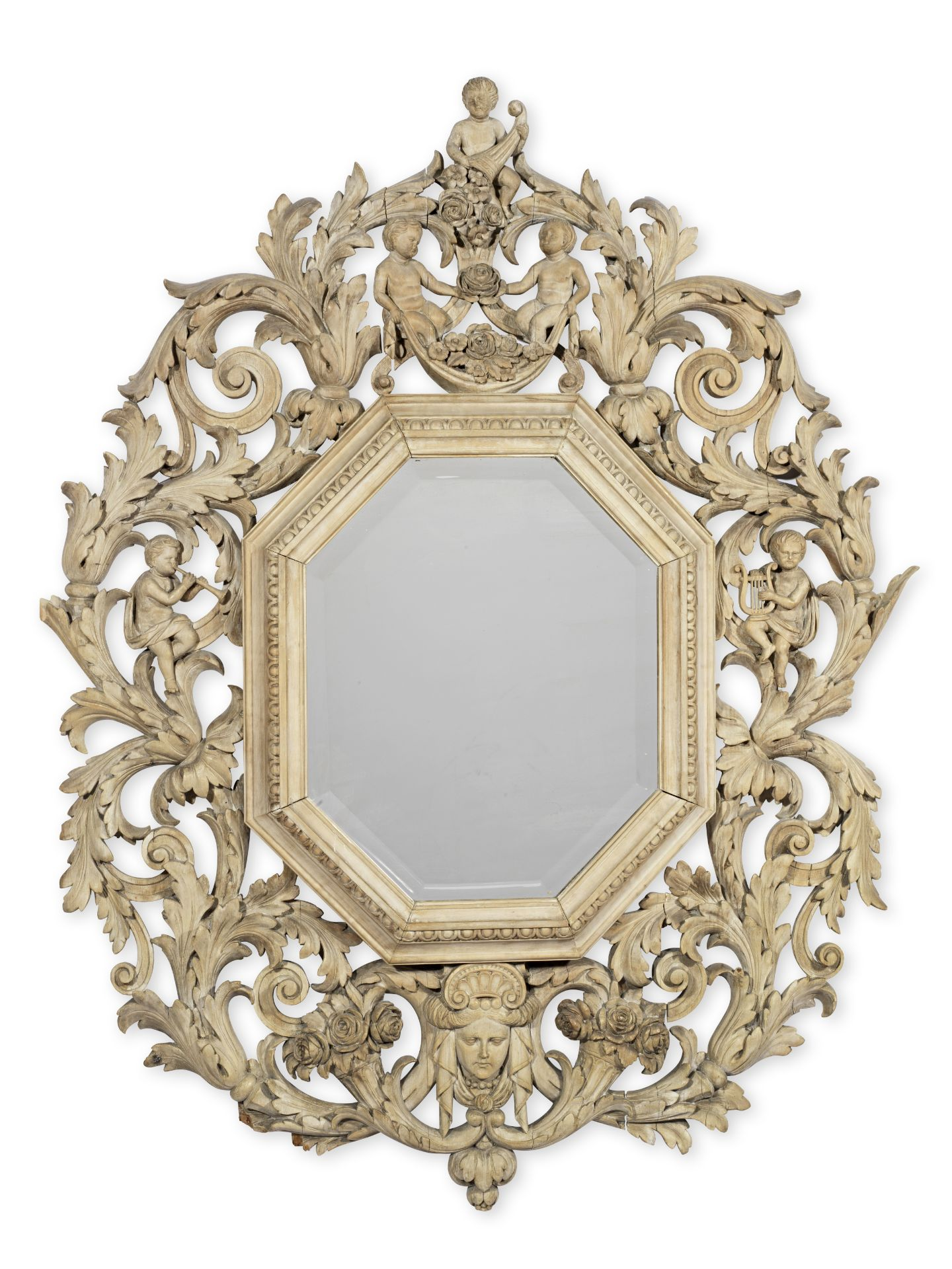 Los 115 - An Anglo-Dutch painted mirror or picture frame probably late 17th century but later stripped and ...