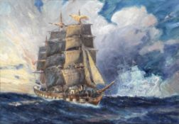 Charles John de Lacy (British, 1856-1936) 'The Flying Dutchman - Phantom Ship'