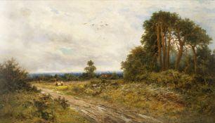 Daniel Sherrin (British, 1868-1940) Resting by the roadside