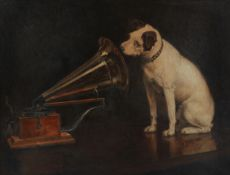 After Francis James Barraud (British, 1856-1924): His Master's Voice, 1920's,