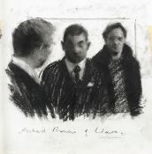 CHARLIE MACKESY (BRITISH, B.1962): An original charcoal drawing executed on set of Love Actually,...