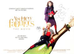 Absolutely Fabulous (The Movie): A signed poster, BBC Films, 2016,