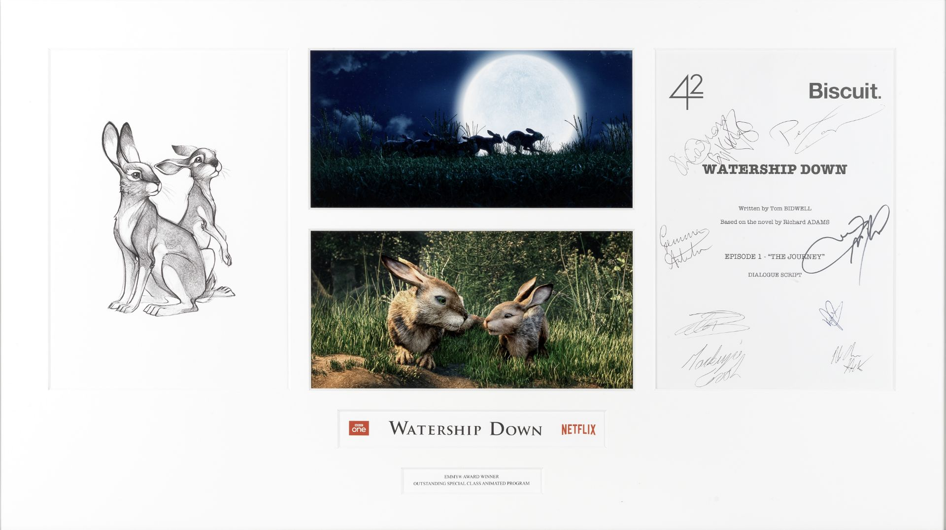 Watership Down: An autographed script page, 42 Productions, 2018,