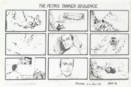 James Bond: A set of storyboards for Licence To Kill, Eon Productions, 1988, Qty