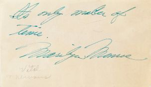 Marilyn Monroe: A signed and inscribed autograph page, circa 1950's,