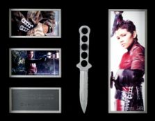 James Bond: A prop 'Jinx' throwing knife used by Halle Berry in Die Another Day, Eon Productions,...
