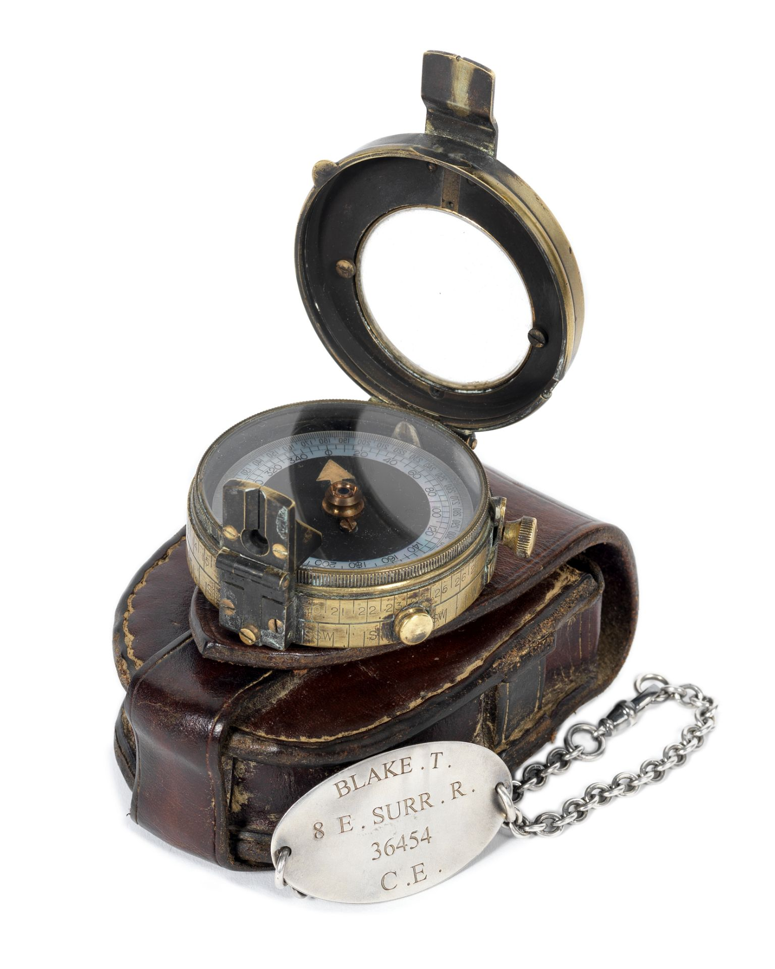 1917: A compass and identity bracelet as worn by Dean-Charles Chapman for his role as 'Lance Corp...