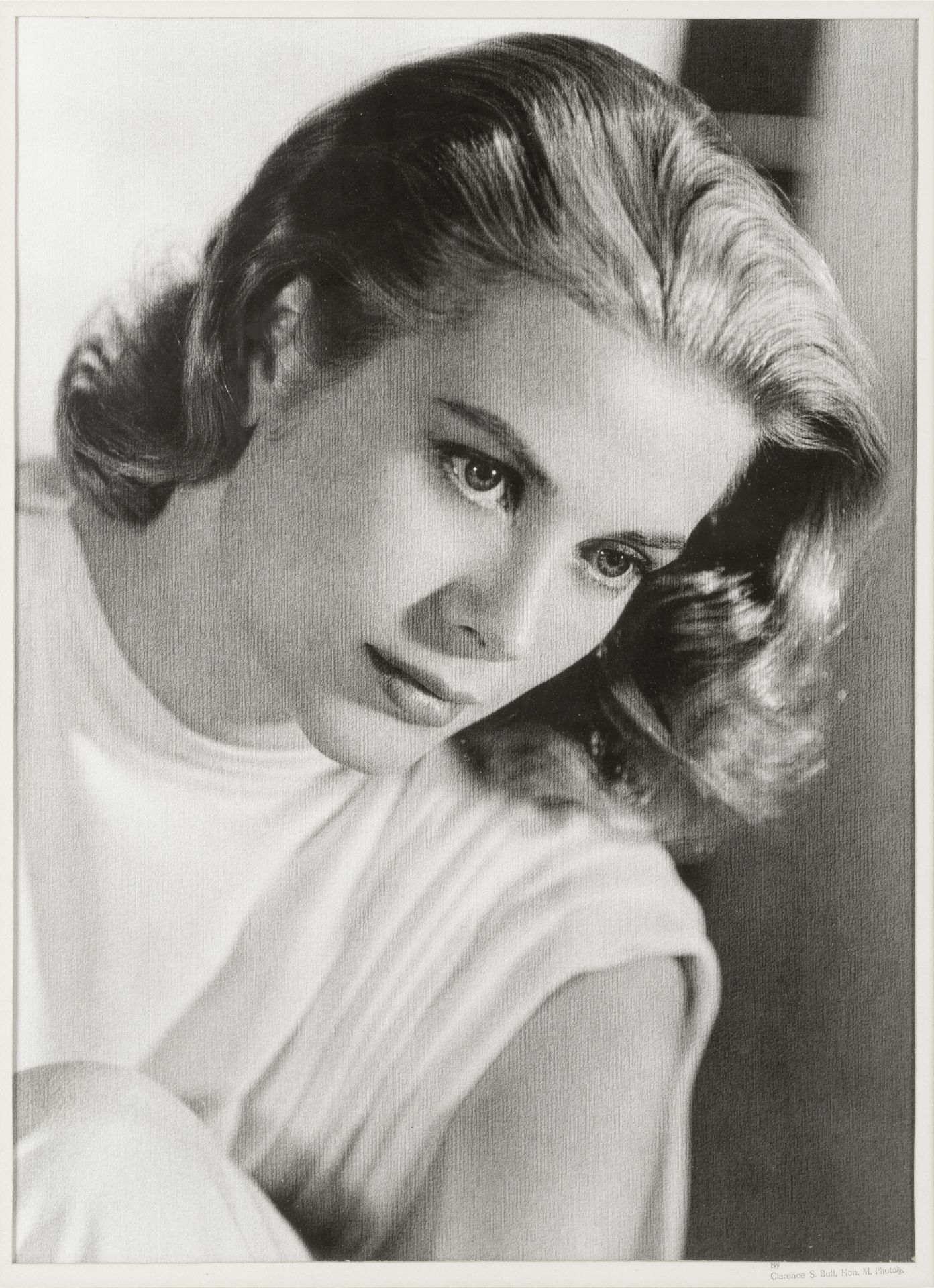 CLARENCE SINCLAIR BULL (American, 1896–1979): A print of Grace Kelly, 1956,