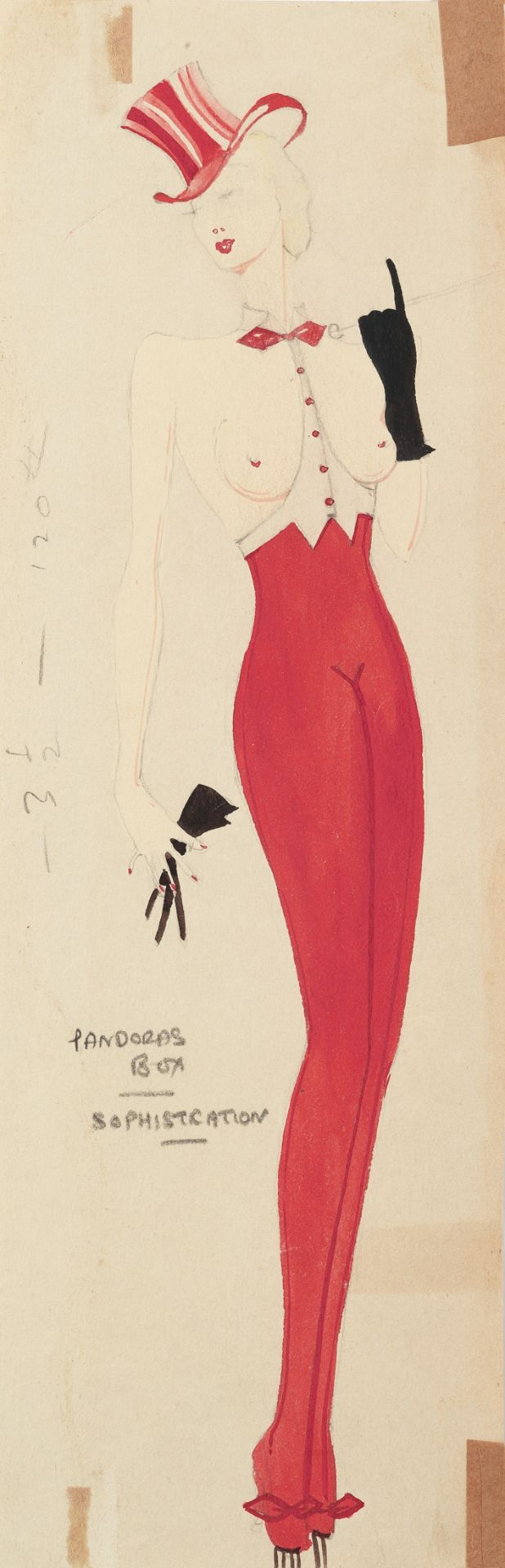 MICHAEL BRONZE (BRITISH, 1916-1979): A GROUP OF ELEVEN DRAWINGS OF COSTUME DESIGNS FOR MURRAY'S C...