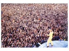 Denis O'Regan (British, b.1953): A signed print of David Bowie, Milton Keynes Bowl, 'Serious Moon...