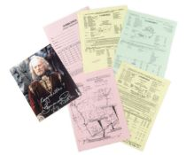 The Lord of the Rings: A large group of call sheets signed by Bernard Hill who played 'King Théod...