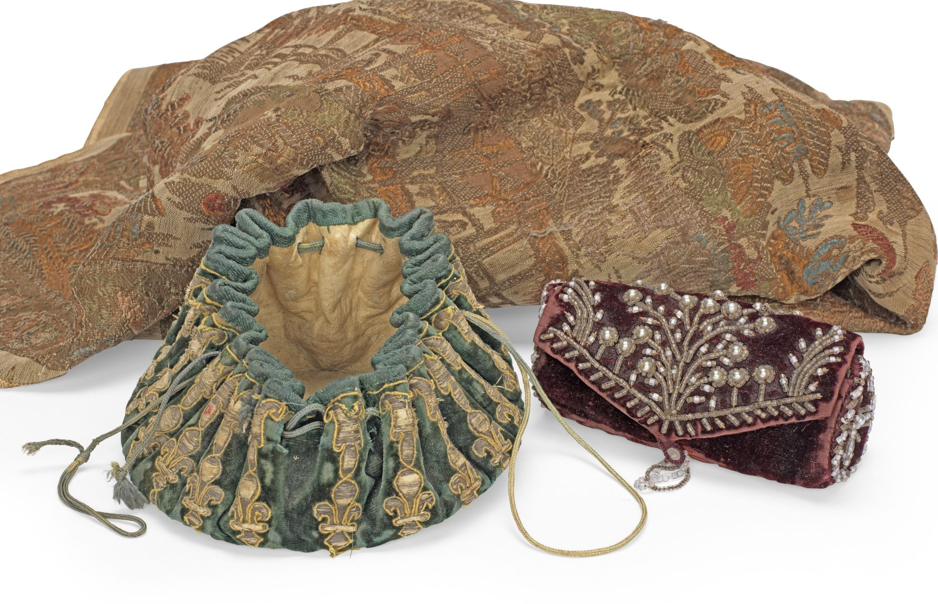 Los 533 - A late 17th century gaming purse, French or Italian, circa 1660-80