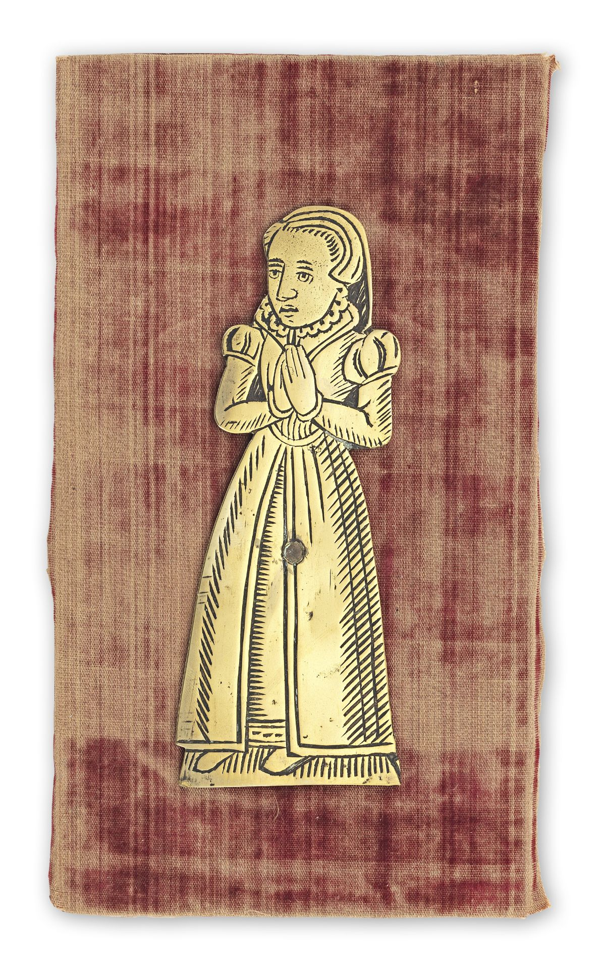 Los 511 - A memorial brass fragment, probably English, probably 16th century
