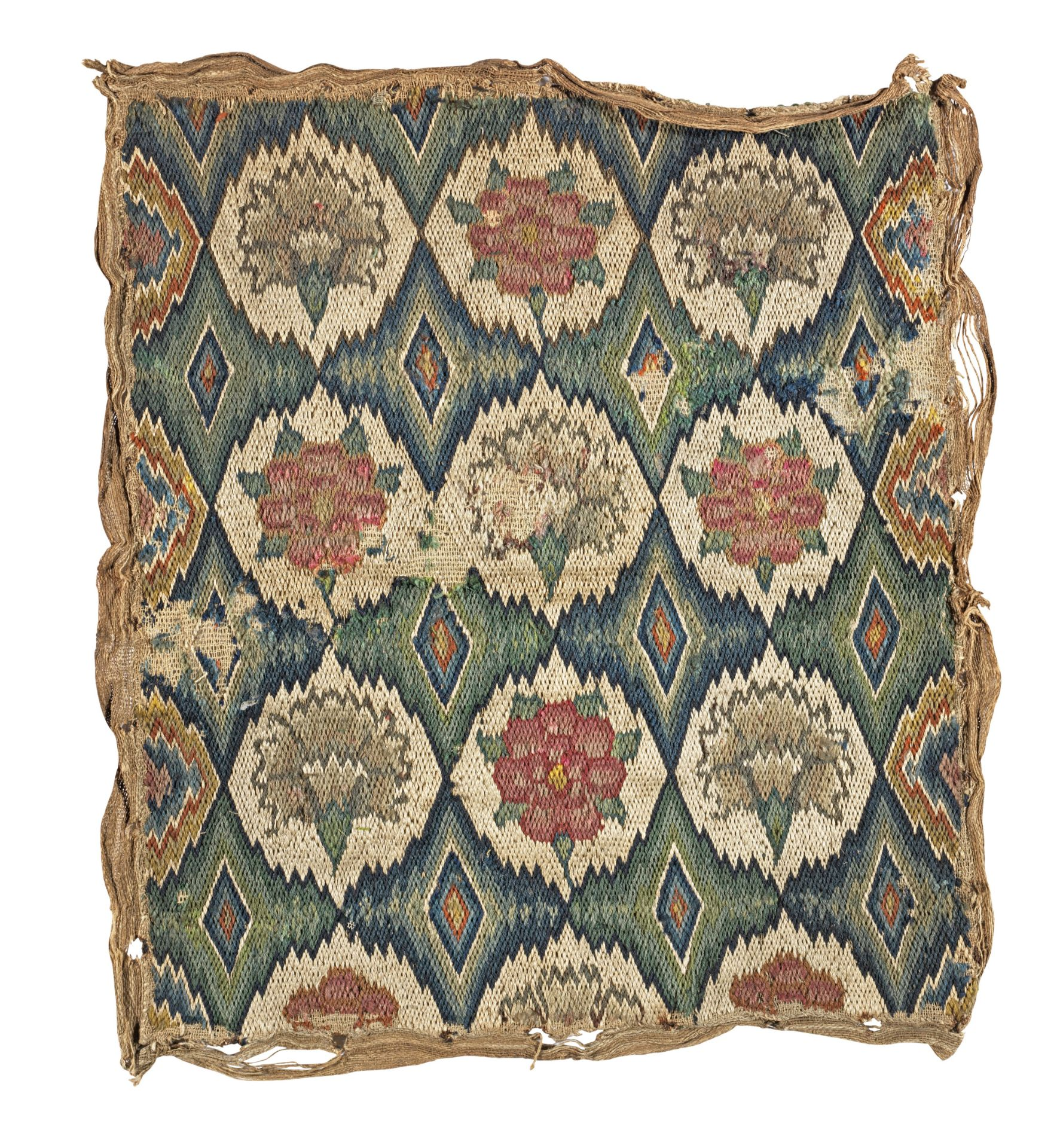 Los 531 - A Charles II needlework seat cover, circa 1670