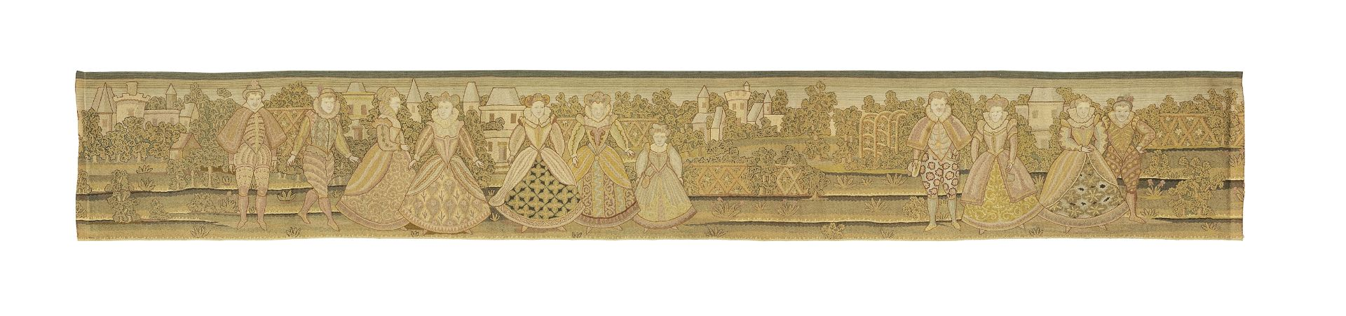 Los 40 - A tambour embroidered valance, circa 1910