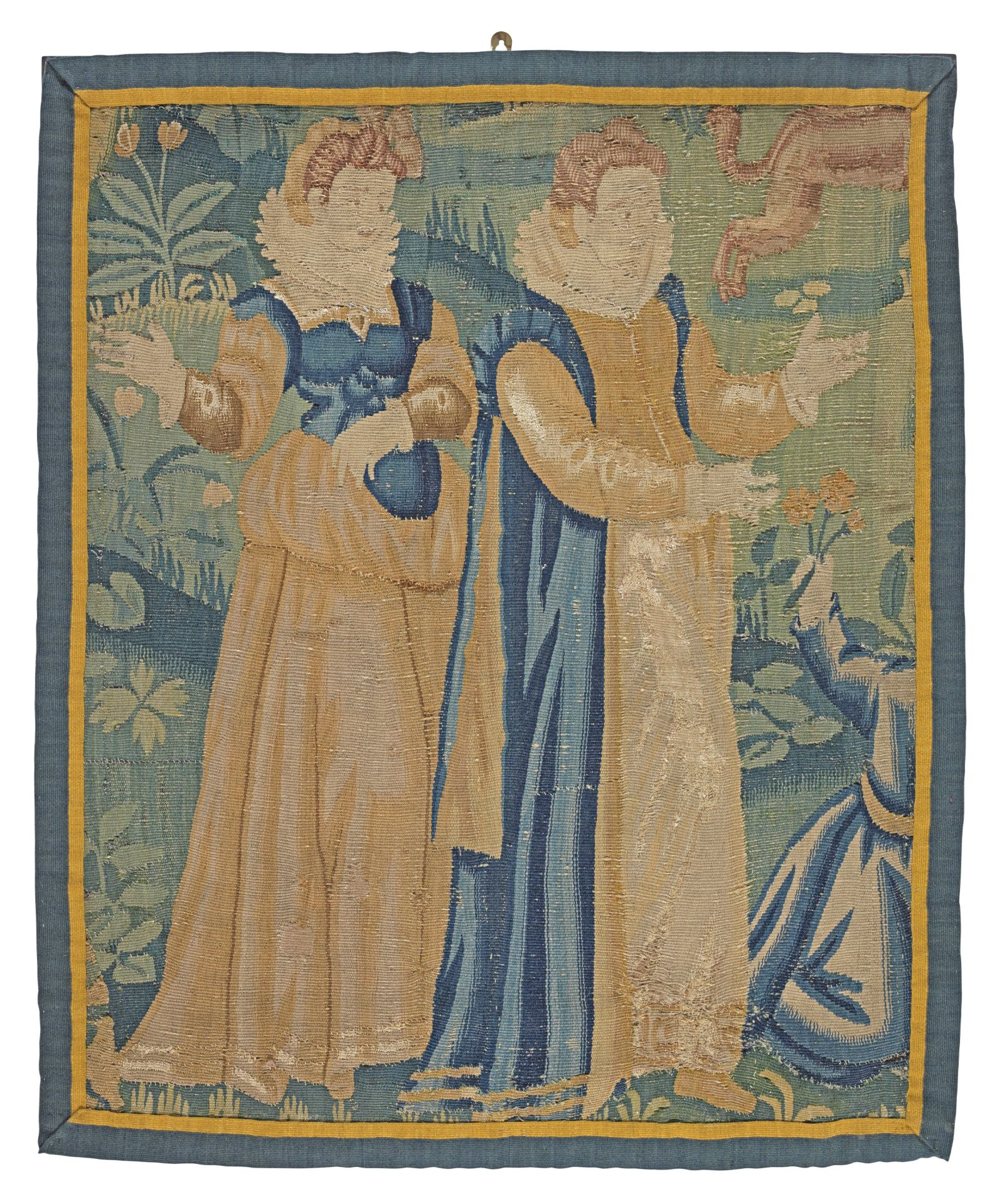 Los 228 - A section of early 17th century tapestry, Flemish