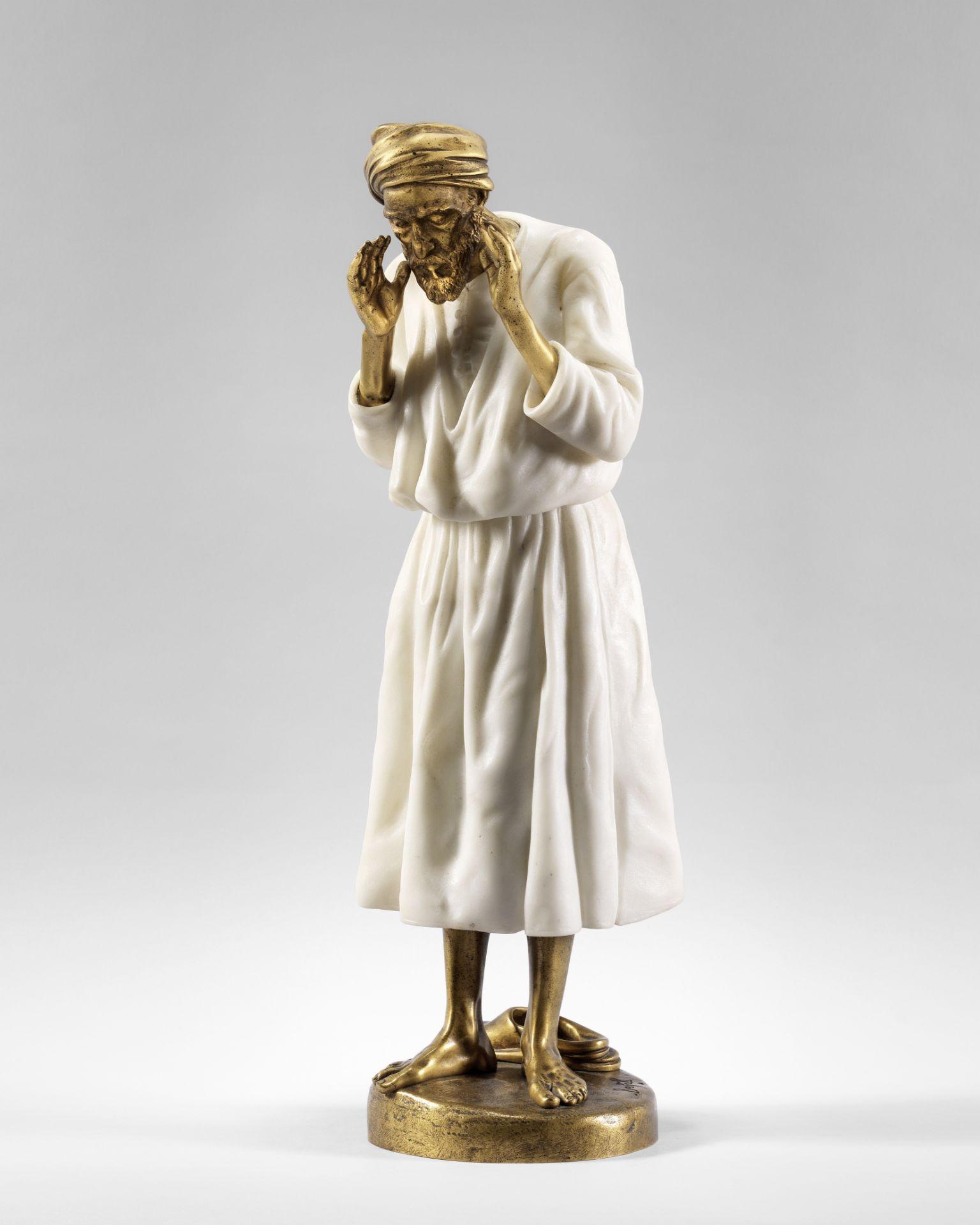 Antoine Bofill (Spanish, 1875-1921) Arabe en prière 50cm high (19 1/2in high)